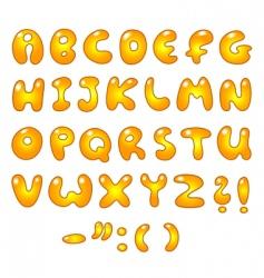 golden letters vector image vector image