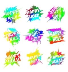 Happy holi set vector