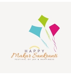 Happy makar sankranti vector