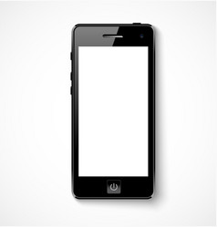 Mobile phone with white screen vector image