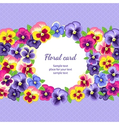 Pansy card vector