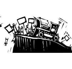 Protest Bulldozer vector image