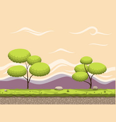 Seamless cartoon game background vector