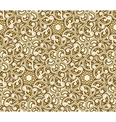 Seamless gold pattern vector image