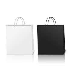 Shopping bags mockup realistic composition vector