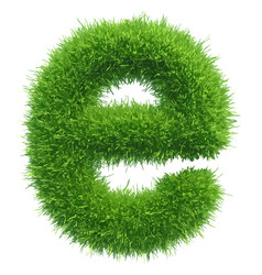 small grass letter e on white background vector image