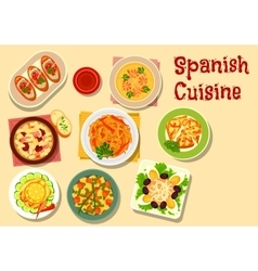 Spanish cuisine lunch icon for food design vector