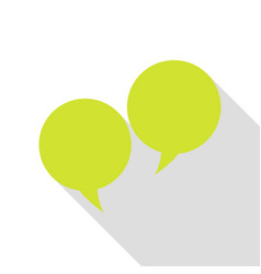 Speech bubble sign pear icon with flat style vector