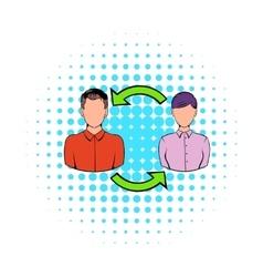 Staff turnover concept icon comics style vector