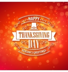 typography design Thanksgiving Blurred and vector image vector image