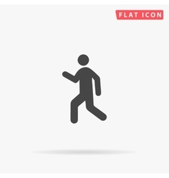 Walk simple flat icon vector