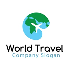 World Travel Design vector image