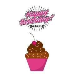 Happy birrhday cake celebration vector