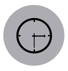 blue emblem sticker clock icon vector image