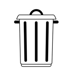 Big garbage ecological jar vector