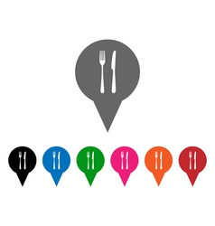 Restaurant pointers vector
