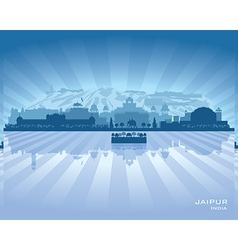 Jaipur india city skyline silhouette vector