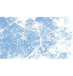 Flag of micronesia with old texture vector