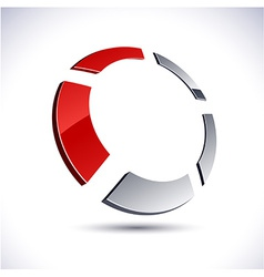 Abstract 3d round icon vector