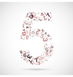 Number five from numbers vector
