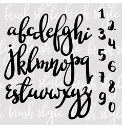 Handwritten brush pen modern calligraphy font vector
