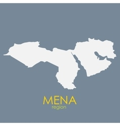 Mena region map vector