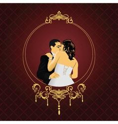 elegant wedding frame vector image