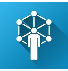 Network center administrator gradient square icon vector
