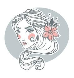 hand drawn beauty vector image