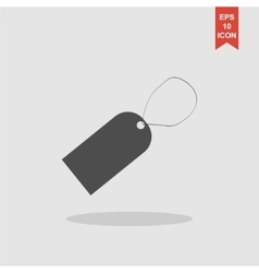 Tag icon  flat design style vector