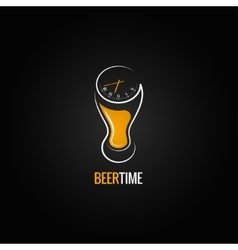 Beer glass party time concept design background vector