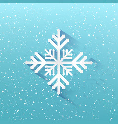 blue winter christmas background snowflakes on vector image vector image