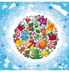 christmas food vector image vector image