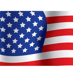 close up of USA flag vector image vector image