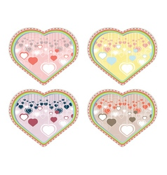 Decorative Hearts Background2 vector image vector image