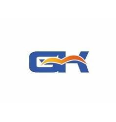 Gk letter logo vector