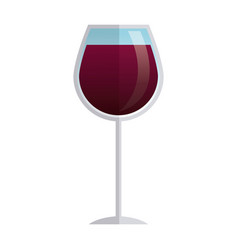 Glass cup wine liquor beverage elegant vector