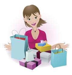 happy shopper vector image vector image
