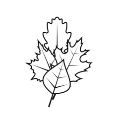 Leaves icon simple style vector image vector image