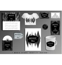 Music store corporate identity template design set vector