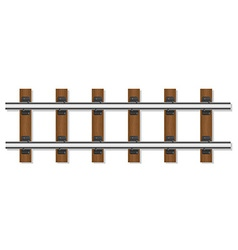 railway rails 01 vector image