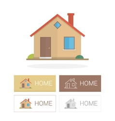 Small house in flat style vector