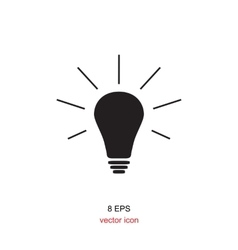 The light lamp icon vector