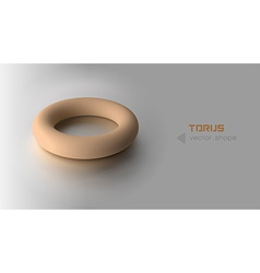 torus orange vector image