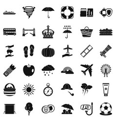 Umbrella icons set simple style vector