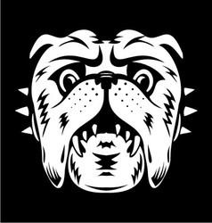 White bulldog face vector