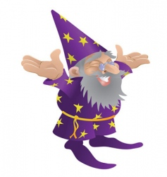 wizard illustration vector image vector image