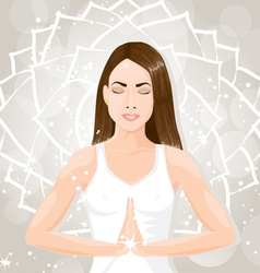 Woman meditating vector image