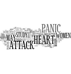 women at risk of heart stroke due to panic attack vector image vector image