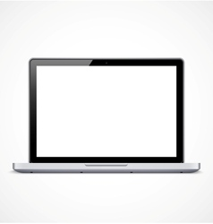 Laptop with white screen vector image